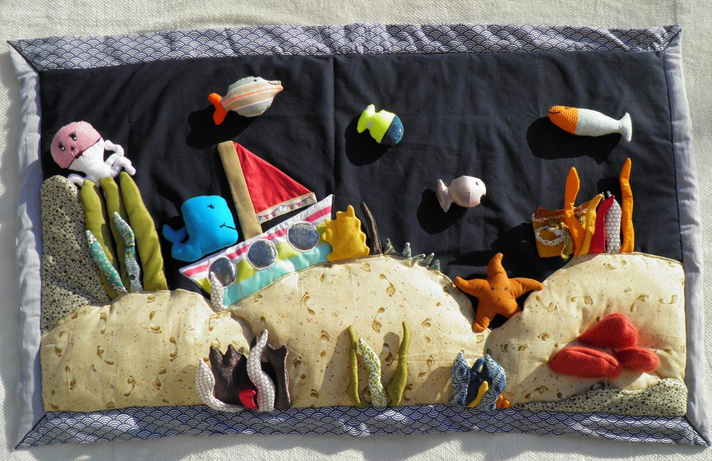 Pti -Tiss-Toire - Raconte tapis- mer-ocean-poissons - Fileuse d-histoires
